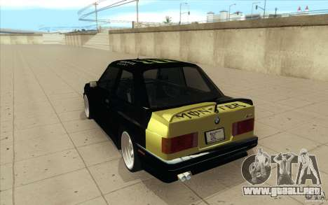 BMW E30 323i para vista lateral GTA San Andreas