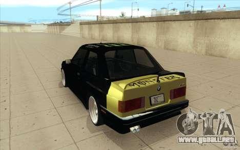 BMW E30 323i para vista lateral GTA San Andreas