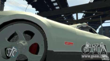 Maybach Exelero para GTA 4 vista hacia atrás