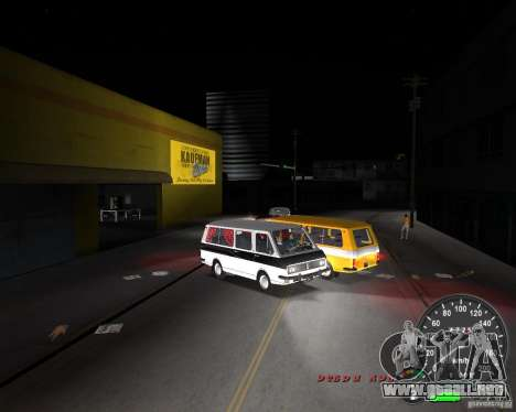 RAF 2203 para GTA Vice City vista posterior