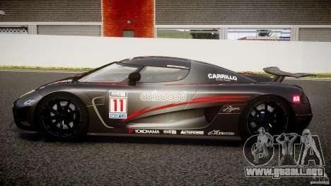 Koenigsegg Agera v1.0 [EPM] para GTA 4 left