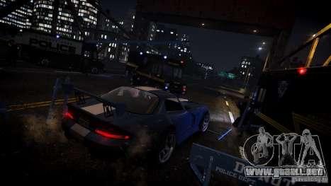 Boxville Police para GTA 4 vista hacia atrás