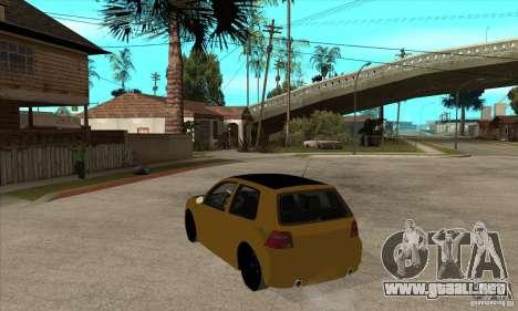 VW Golf 4 R32 para GTA San Andreas vista posterior izquierda
