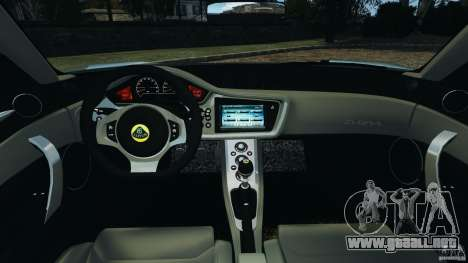 Lotus Evora 2009 v1.0 para GTA 4 vista hacia atrás