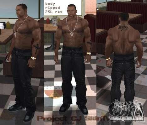 Navetsea CJ Skin Tweak 512 r2 para GTA San Andreas segunda pantalla