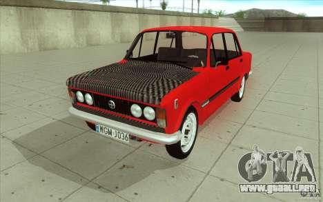 Fiat 125p para la vista superior GTA San Andreas