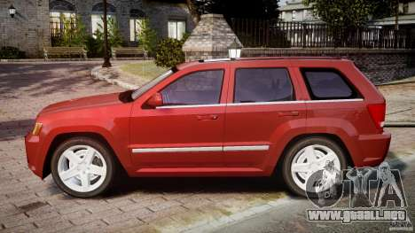 Jeep Grand Cherokee para GTA 4 left