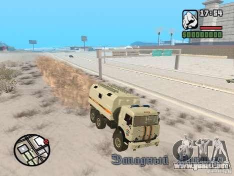 KAMAZ MES versión 2 para la visión correcta GTA San Andreas