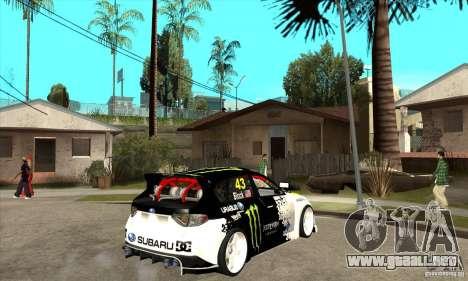 Subaru Impreza 2009 (Ken Block) para la visión correcta GTA San Andreas
