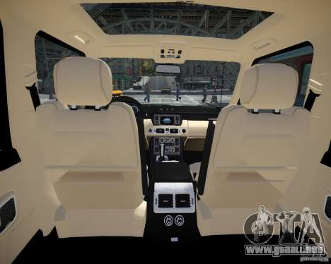 Land Rover SuperSharged para GTA 4 vista interior