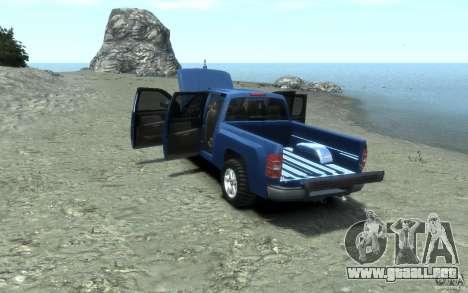 Chevrolet Silverado 2008 para GTA 4 vista superior