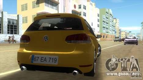 Volkswagen Golf 6 GTI para GTA Vice City vista lateral izquierdo