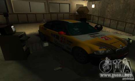 BMW M3 E46 TUNEABLE para vista lateral GTA San Andreas