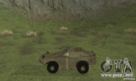 BRDM-1 piel 2 para GTA San Andreas vista posterior izquierda