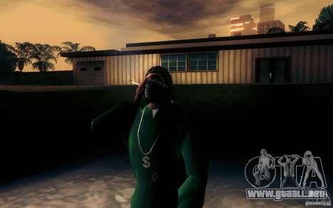 Cigarrillo realista para GTA San Andreas segunda pantalla