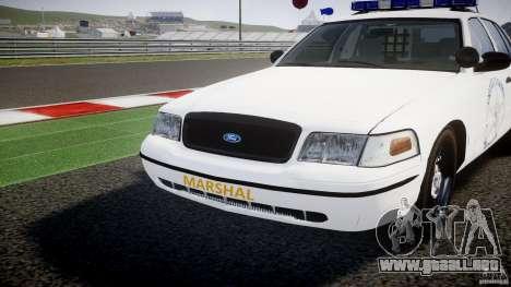 Ford Crown Victoria US Marshal [ELS] para GTA 4 vista superior