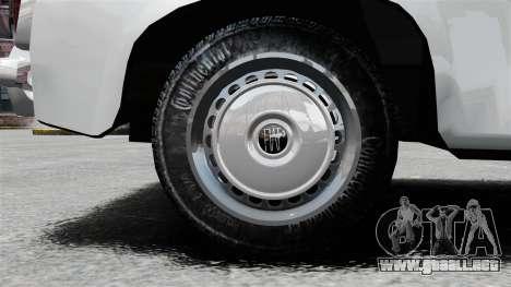 Zastava 750 para GTA 4 vista hacia atrás