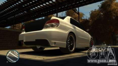Subaru Impreza 2005 para GTA 4 vista hacia atrás