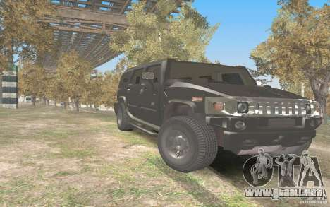 Hummer H2 Stock para GTA San Andreas vista hacia atrás