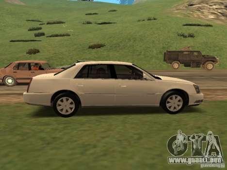 Cadillac DTS 2010 para GTA San Andreas vista posterior izquierda