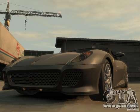 Ferrari 599 GTO para GTA 4 vista hacia atrás