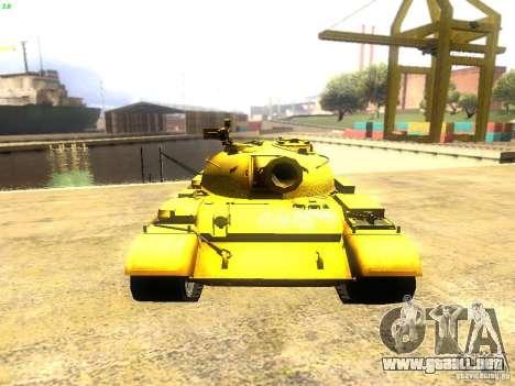 Type 59 v1 para GTA San Andreas vista hacia atrás