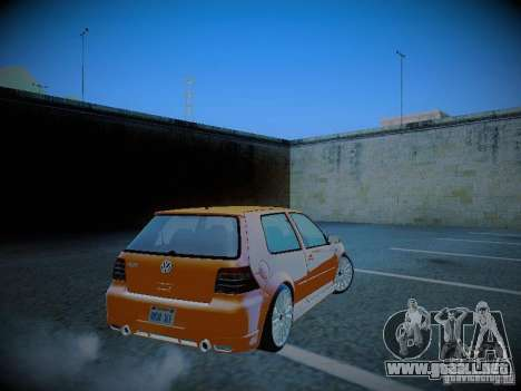 Volkswagen Golf Mk4 R32 para GTA San Andreas vista posterior izquierda