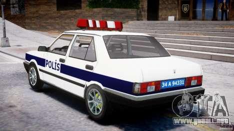 Tofas Sahin Turkish Police v1.0 para GTA 4 Vista posterior izquierda