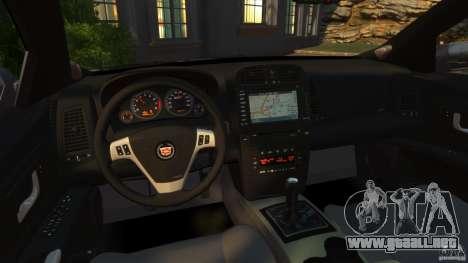 Cadillac CTS-V 2004 para GTA 4 vista hacia atrás
