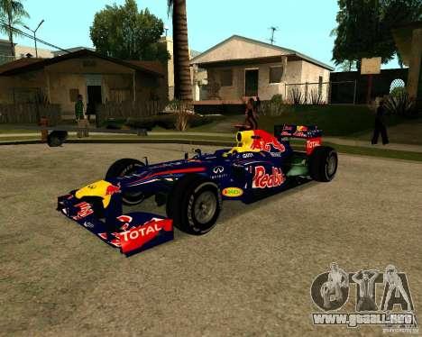 Red Bull RB8 F1 2012 para GTA San Andreas
