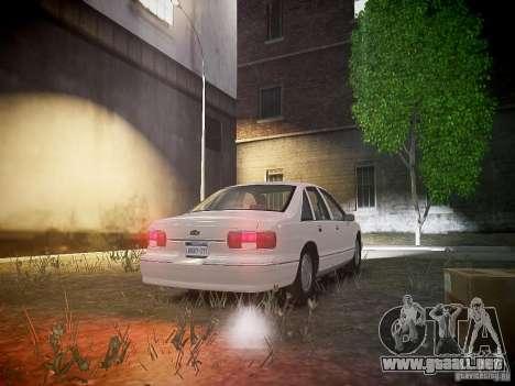 Chevrolet Caprice 1993 Rims 1 para GTA 4 vista hacia atrás