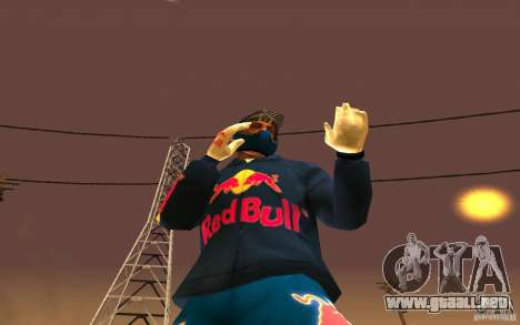 Red Bull Clothes v1.0 para GTA San Andreas sexta pantalla