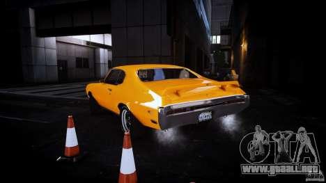 Buick GSX 1970 para GTA 4 Vista posterior izquierda