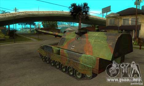 Panzerhaubitze 2000 para GTA San Andreas vista posterior izquierda