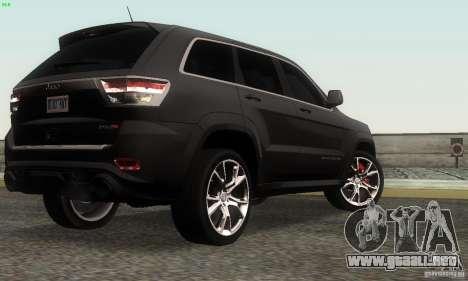 Jeep Grand Cherokee SRT8 para GTA San Andreas left