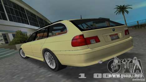BMW 5S Touring E39 para GTA Vice City left
