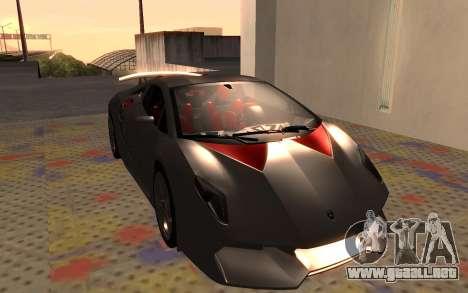 Lamborghini Sesto Elemento 2011 para GTA San Andreas left