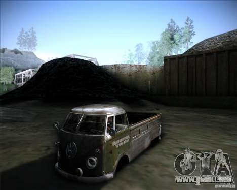 Volkswagen Transporter T1 rat pickup para GTA San Andreas left