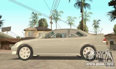 Honda Civic 1998 para la visión correcta GTA San Andreas