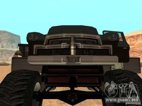 Walton Monster para GTA San Andreas vista hacia atrás