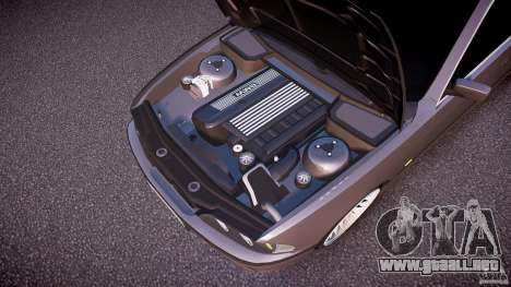 BMW 530I E39 stock white wheels para GTA 4 vista desde abajo
