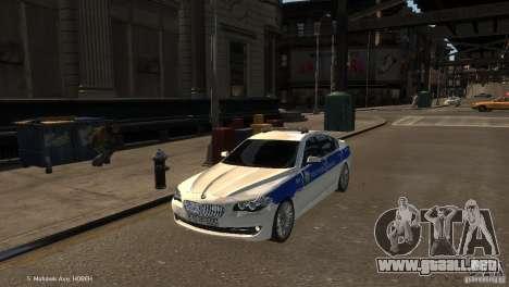 BMW 550i Azeri Police YPX para GTA 4