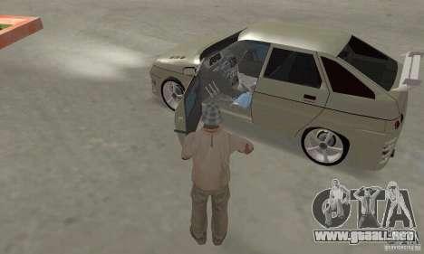 LADA 2112 Tuning (F) para visión interna GTA San Andreas