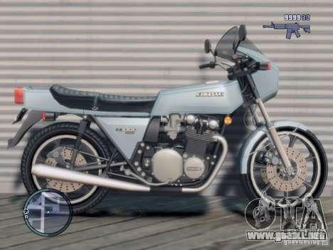 Kawasaki Z1-R para GTA 4 left