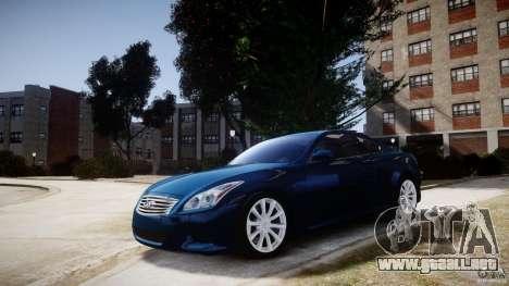 Infiniti G37 Coupe Sport para GTA 4