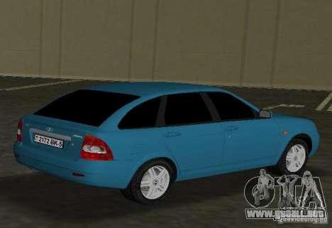 Lada Priora Hatchback para GTA Vice City visión correcta