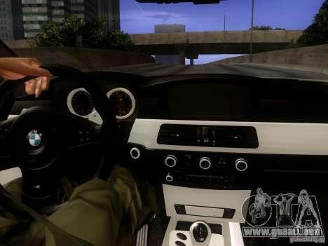 BMW M5 E60 2009 para visión interna GTA San Andreas