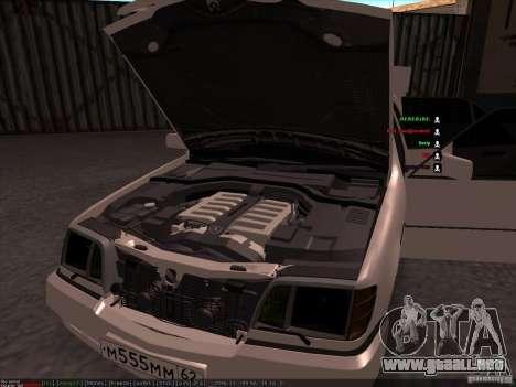 Mercedes-Benz 600SEL AMG 1993 para la vista superior GTA San Andreas