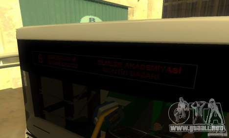 Daewoo Bus BC211MA para GTA San Andreas vista posterior izquierda