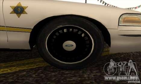 Ford Crown Victoria Illinois Police para la visión correcta GTA San Andreas